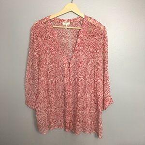 JOIE | laurel silk chiffon printed blouse large L